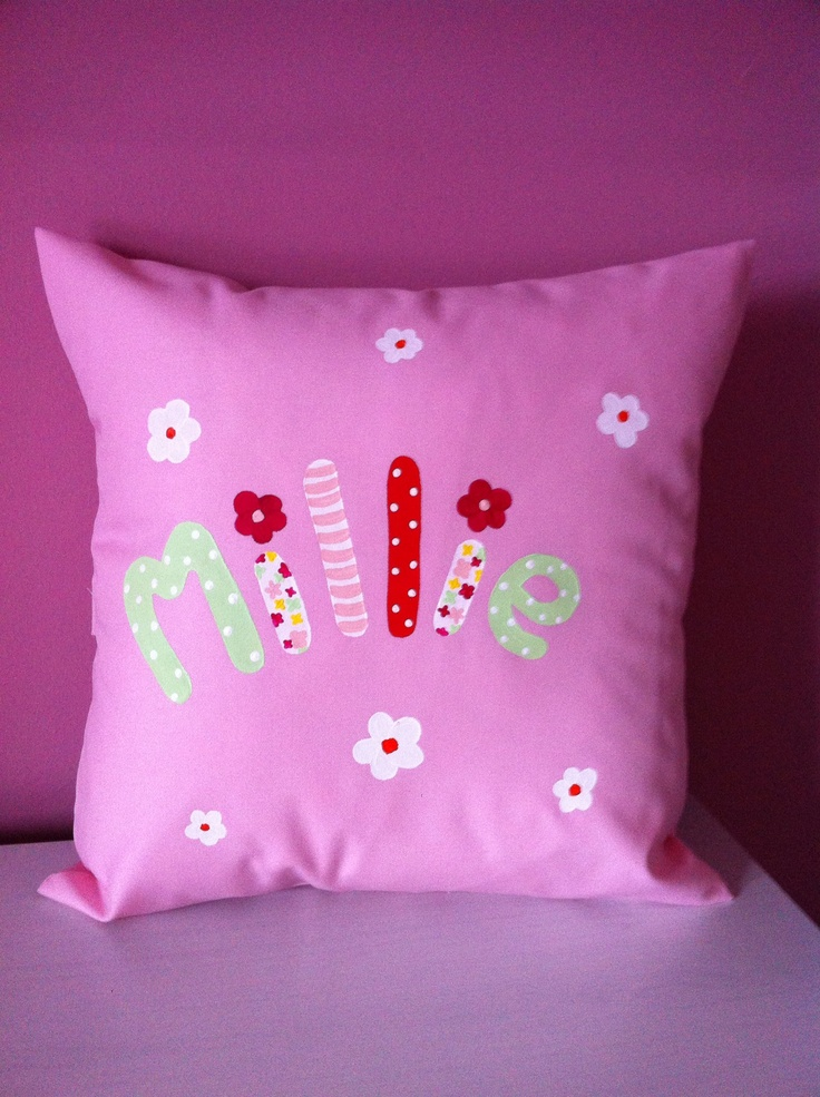Millie's personalised cushion