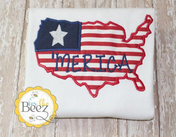 Fourth of July Shirt  - 4th Shirt - Merica Shirt - America Shirt - Boys Patriotic Shirt - Independence Day Shirt - Personalized Shirt
