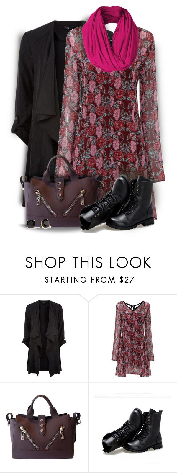 """""""Floral Mini Swing Dress"""" by colierollers ❤ liked on Polyvore featuring moda, Kenzo, Sunsteps y Kate Spade"""