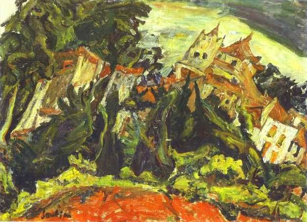soutine paintings | Houses at Ceret - Chaim Soutine - WikiPaintings.org