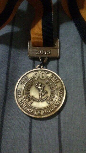My comrades2015 medal