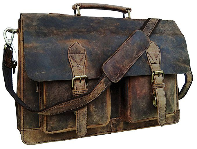 614a9c7025 cuero 15 Inch Retro Buffalo Hunter Leather Laptop Messenger Bag Office Briefcase  College Bag