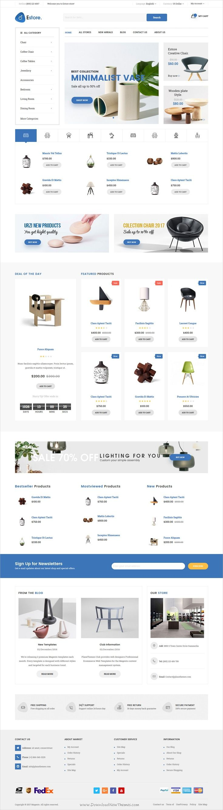 Estore is clean, modern and responsive @Magento theme for #interior #shop awesome #eCommerce websites with 4 unique homepage layouts download now➩ https://themeforest.net/item/estore-responsive-magento-theme/19422455?ref=Datasata