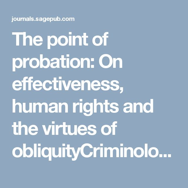 probation effectiveness 1 probation effectiveness as key to successful justice reinvestment why is it so hard dr tony fabelo justice center, council of state governments.
