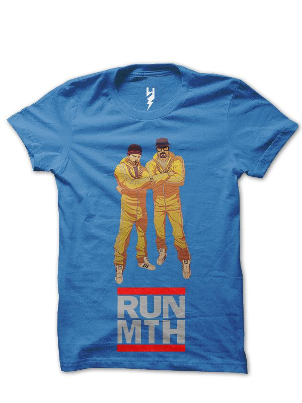 Run Meth from XTEAS  Breaking Bad Series Inspired Tee  Trivia - When characters on the show are smoking meth, they are actually smoking sugar or rock candy but do not inhale.  Printed on 100% Organic Cotton, XTEAS Premium T-Shirt.
