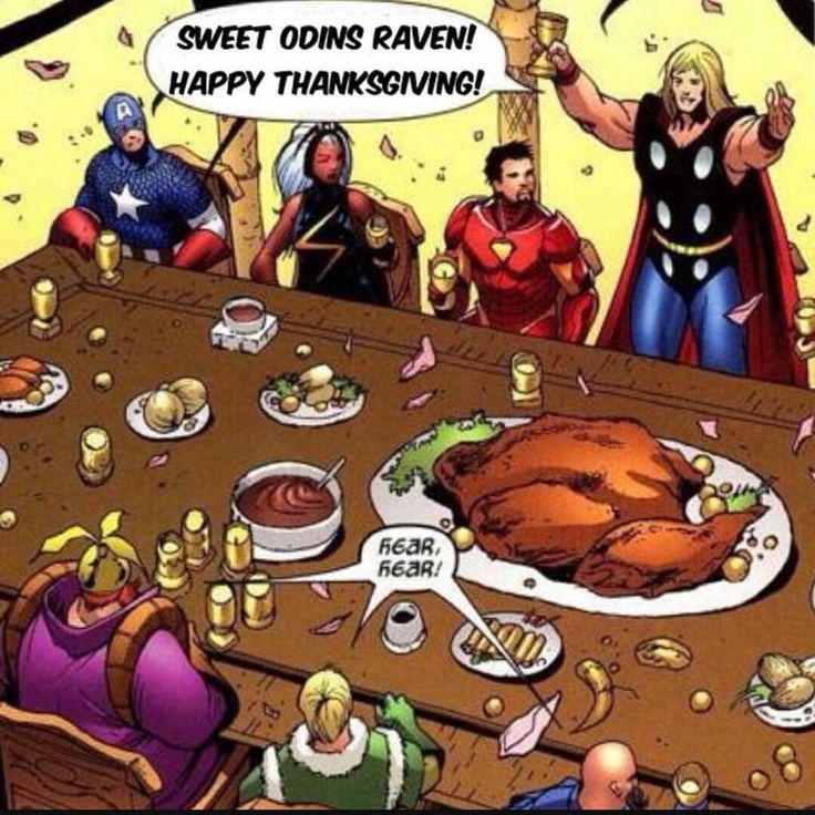 Thor Wishes Everyone a Happy Thanksgiving
