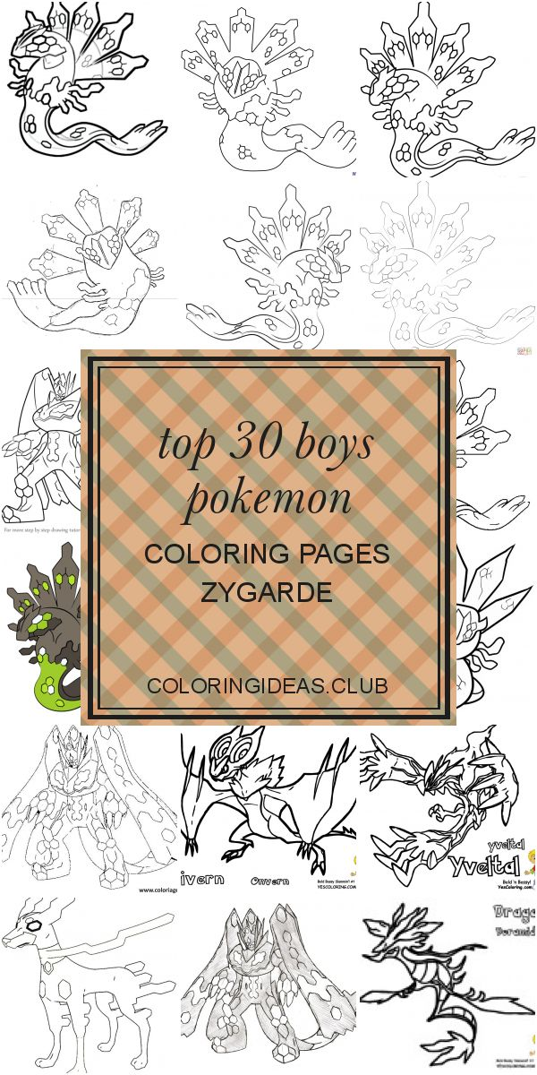 Top 30 Boys Pokemon Coloring Pages Zygarde | Pokemon ...