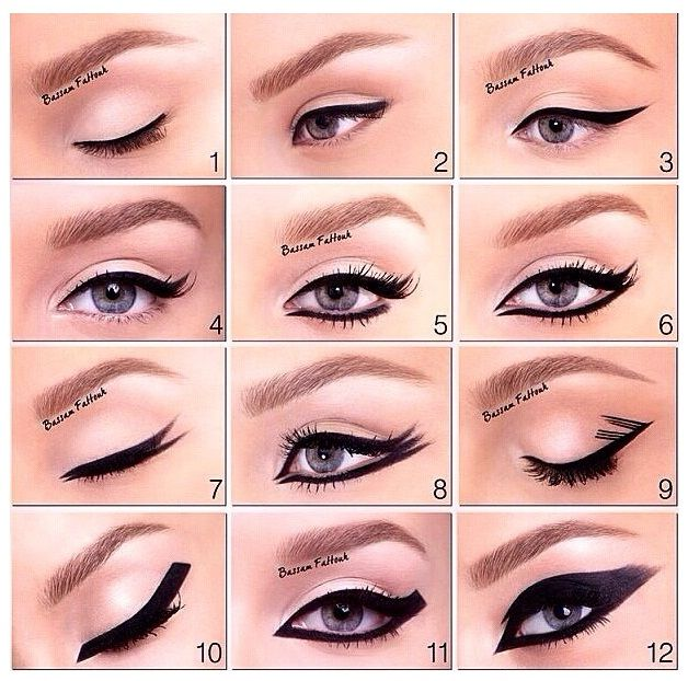 beauty ways to apply eyeliner 12 different ways to apply eye liner fashion and mode today. Black Bedroom Furniture Sets. Home Design Ideas