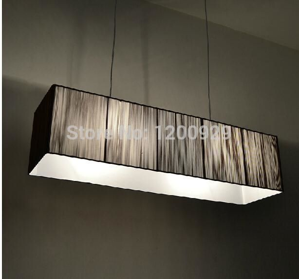 (188.88$)  Buy here - http://ai6ic.worlditems.win/all/product.php?id=2039871903 - L92CM*W25CM*H23CM Rectangular Wire Drawing Cover Droplight Pendant Lustre Luxury Modern Design Lighting Free Shipping PLL-140