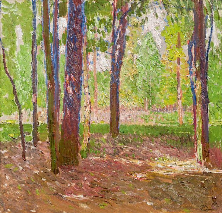"""amare-habeo: """" Carl Moll (Austrian, 1861-1945) The Wiener Prater Park (Parklandschaft im Wiener Prater), 1908 oil on canavs """""""