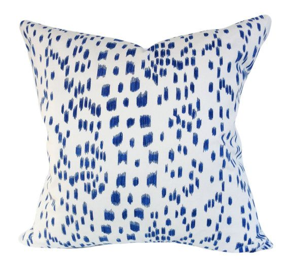 Le Jardin Chinois Brunschwig: This Brunschwig Fils Les Touches Blue Lumbar Pillow Cover