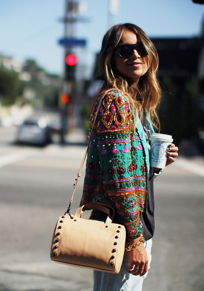 @Sincerely Jules in the @Loeffler Randall Duffel Bag $395.00 #bloggerswelove
