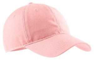 Port & Company- Soft Brushed Canvas Cap. CP96 Light pink
