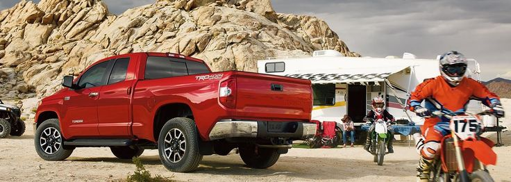 The 2014 #Toyota #Tundra has an available towing capacity of up to five-tons and a zero capacity for self doubt.   Check it out here: http://prioritytoyotachesapeake.com/Hampton-Roads/For-Sale/New/?ModelId=759&Model=Tundra