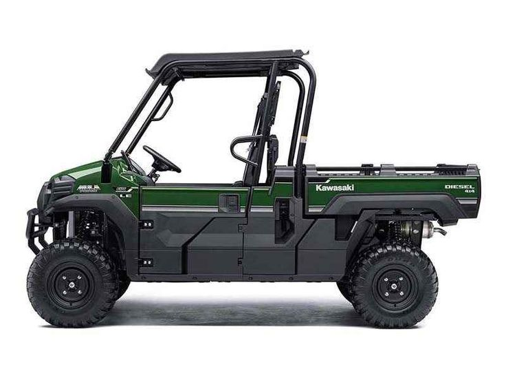 New 2016 Kawasaki Mule PRO-DX Diesel ATVs For Sale in California. Our powerful, most capable, full-size, three-passenger diesel Mule Side x Side ever. The 2016 Mule PRO-DX features the largest steel cargo bed in its class, big enough to close the tailgate on a full-size wooden pallet (40 x 48 inches) with up to a 1,000-pound payload for secure transport. Powerful 993 cc, inline three-cylinder diesel engine Largest cargo bed dimensions in its class, steel construction cargo bed floor for…