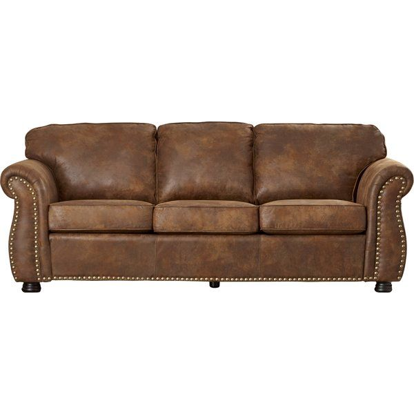 Hertfordshire Microfiber 90 Rolled Arm Sofa Rustic Couch Rustic Living Room Furniture Quality Living Room Furniture