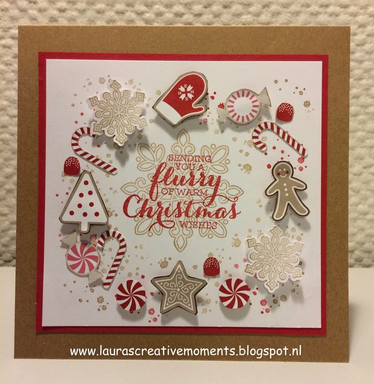Candy Cane Lane DSP - Flurry of Wishes, Stampin' Up! - Happy Holidays