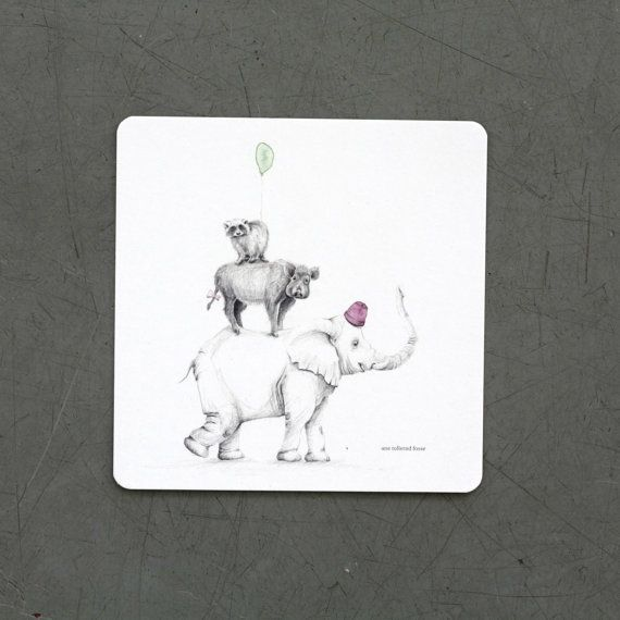 • Card based on hand drawn illustration • No envelope • 14x14 cm • Rounded corners • Digitally printed on 300gsm Scandia 2000 paper  WELL SUITED