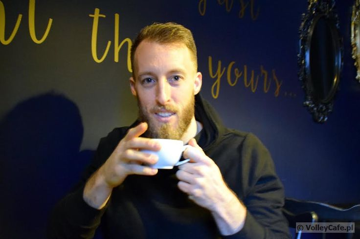 Dustin Watten with a cup of #coffee #coffeetime #cafe #volleyball #interview