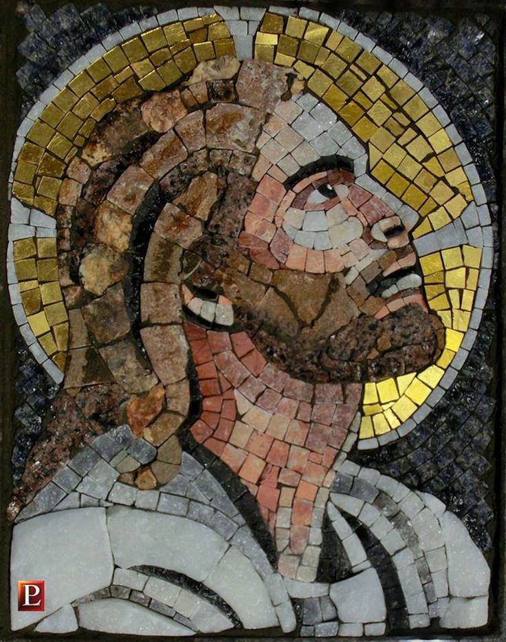 Mosaico in marmi policromi e quarzi. Artistic Mosaic made with polichrome marbles