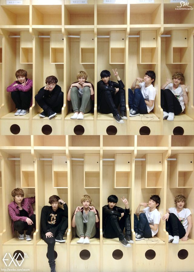 EXO...Tao has a duckface in the first picture...a duckface -_-'