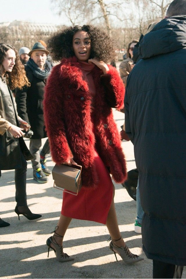 Solange Knowles in Carven, Lautem, and Malone Souliers Which outfit of Solange's is your favourite? Sound off below!