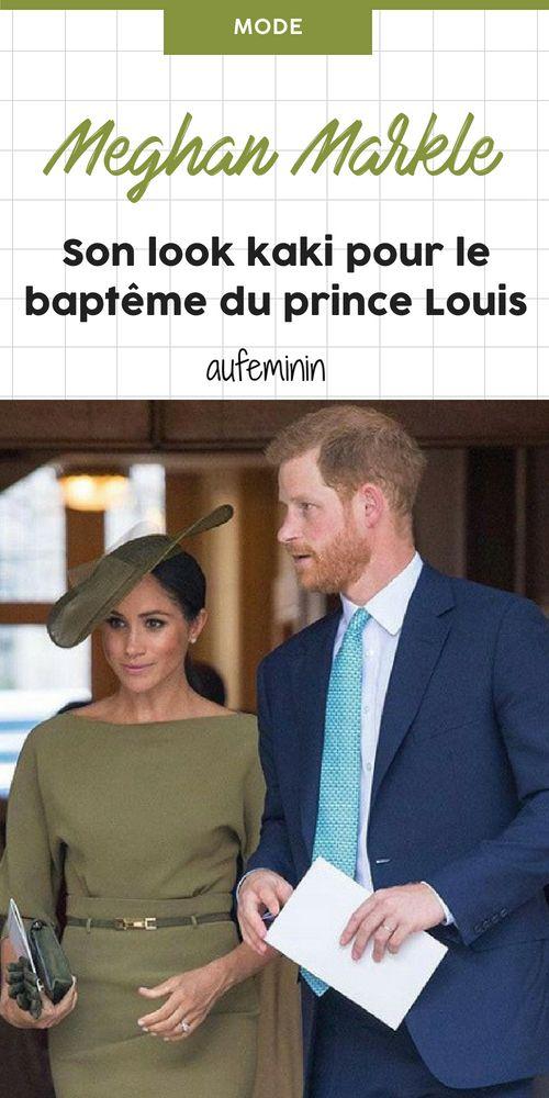 d2ba4dbef7d41 Meghan Markle surprend en total look kaki pour le baptême du prince ...