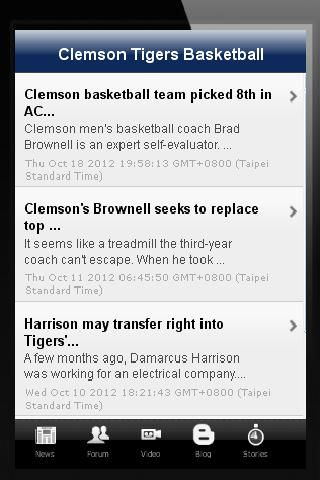 This is the unofficial Clemson Tigers Basketball Fans App. With this app, you can see the latest updates about the team. This apps contains all about the team like news, blogs, fan forums, latest schedules, statistics, latest roster, photos, videos, and m