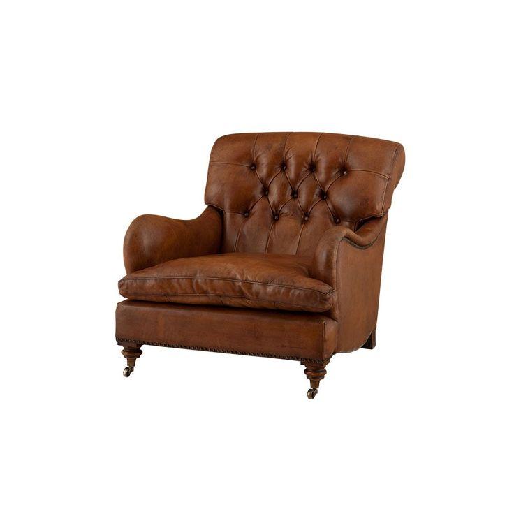 Eichholtz Caledonian Club Chair - Tobacco Leather