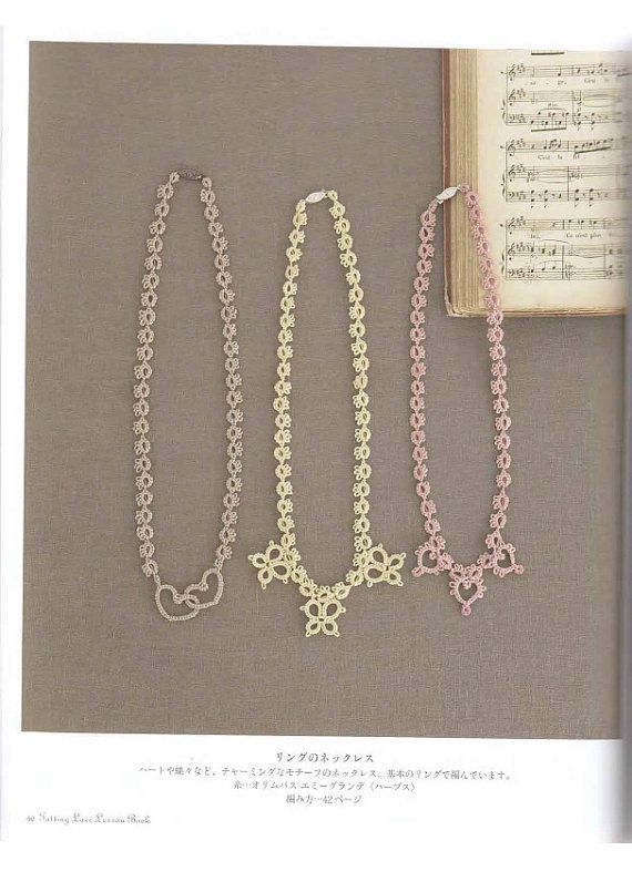 Tatting lace lesson japanese craft ebook by LibraryPatterns