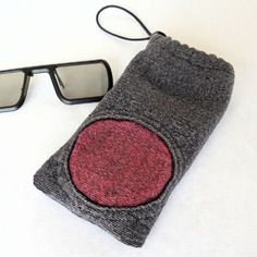 Étui à lunettes, étui téléphone, étui à lunettes gris bleuté pour homme, étui lunettes sport chic