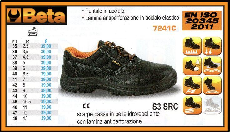 Scarpe basse in pelle idrorepellente antiperforazione BETA