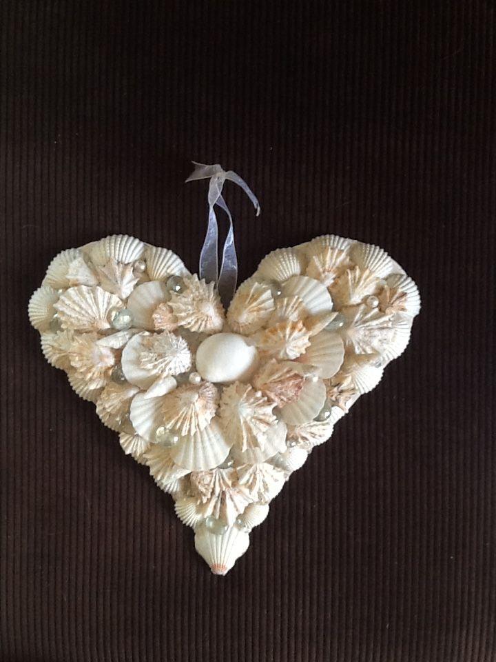 #shell art - heart