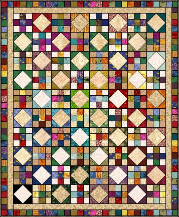 This is the quilt pattern that I am using to make a baby quilt with. The pattern is called Goose Creek.