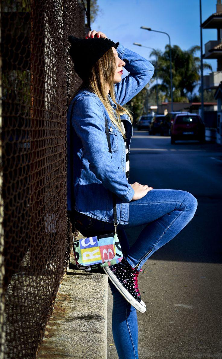 Mini-bag neo-eighties style 2. www.vanessavanhandmade.etsy.com