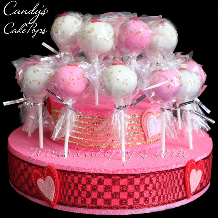 A Valentine's Day Cake Pop Cake! I proud to know this fellow business owner. Support cake pops and flowers this V-day!!!!!