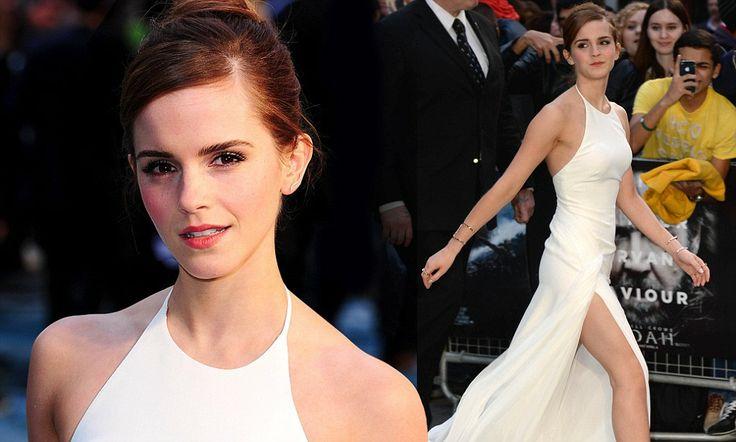Emma Watson shows off stunning figure at UK premiere of Noah #DailyMail