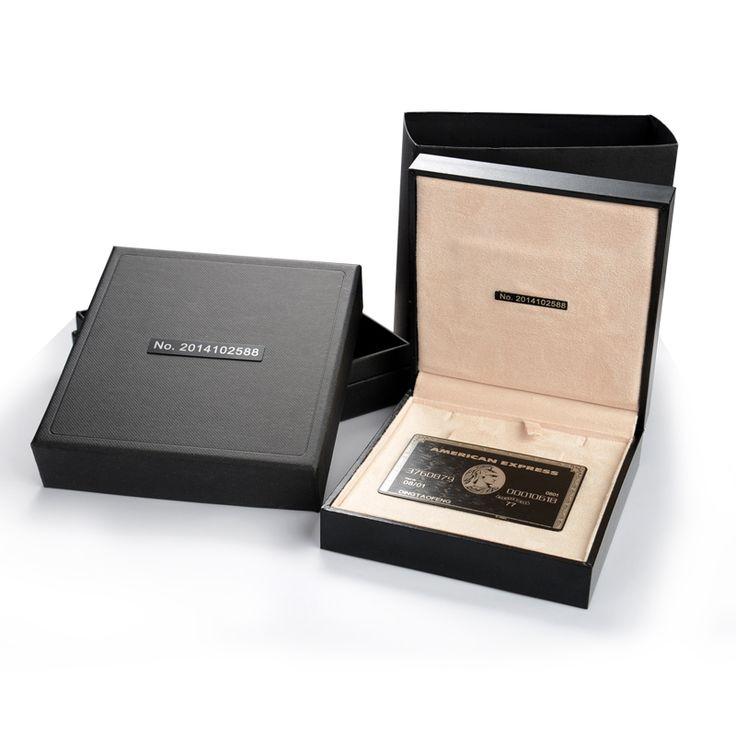 American Express ( Amex ) noir Centurion carte bancaire métal personnaliser cadeau livraison gratuite ,