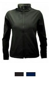 Jackets and Vests - Aurora Custom Sportswear NZ - Womens 3k Softshell It's water resistant fabric, wind-stopping membrane, excellent fit and great looks, this jacket is the perfect everyday companion. Very versatile - dress it up or down depending on the occasion.  Water resistant outer (3000mm) Breathable (1000MVP) Wind blocking Side panel detail Zippered hand pockets - concealed Internal 'drop' pockets Internal storm flap and zip 'garage'