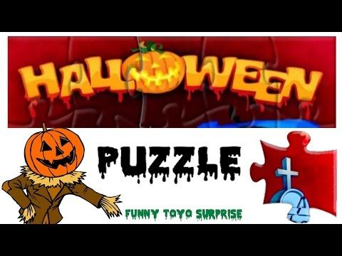 PUZZLE Real Halloween Talking Cartoon Monster Video for Kids from Funny Toyo Surprise - YouTube