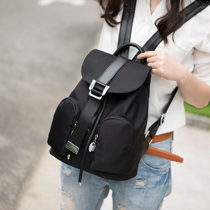 $15.99 (Buy here: https://alitems.com/g/1e8d114494ebda23ff8b16525dc3e8/?i=5&ulp=https%3A%2F%2Fwww.aliexpress.com%2Fitem%2FNew-Casual-Women-Nylon-Backpack-Waterproof-Lady-Backpacks-College-style-Girl-s-backpack-Teens-travel-bag%2F32732072722.html ) New Casual Women Nylon Backpack Waterproof  Lady Backpacks College style Girl's backpack Teens travel bag mochila feminina for just $15.99