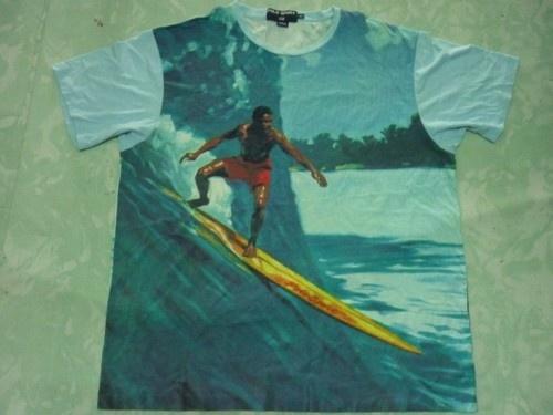 Vintage Polo Sport Ralph Lauren Surfing P Wing Stadium Bear XL Shirt