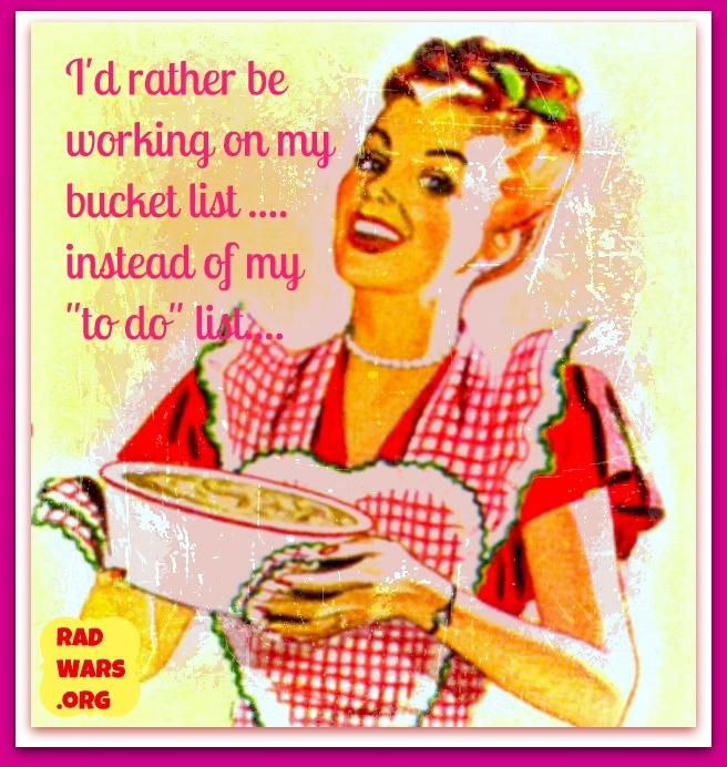 this is why i do not care about housework...quote housewife bucket list
