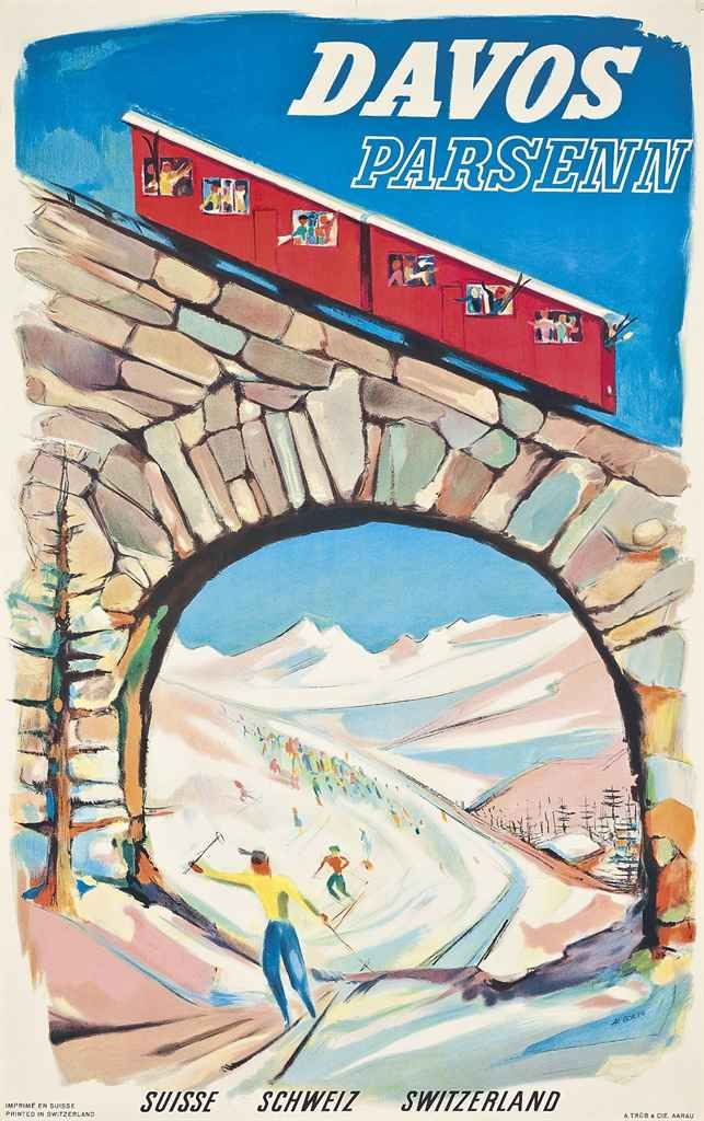 DAVOS PARSENN, that's where we had skiing camps, but climbing with seal-skins not the funicular!