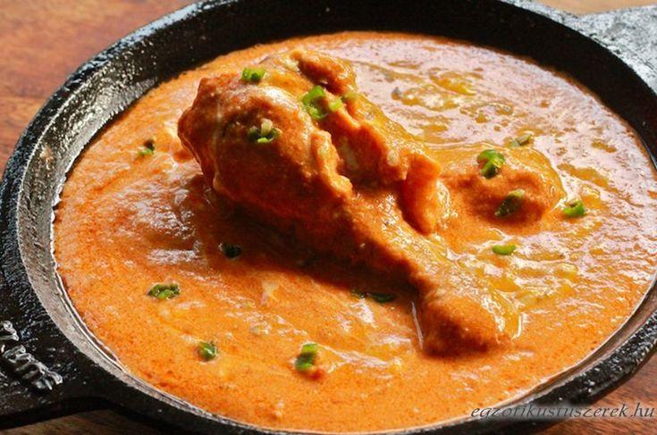 Indiai Vajcsirke - Murgh Makhani - Indiai konyha - Receptek Messzeföldről - Egzotikus fűszerek