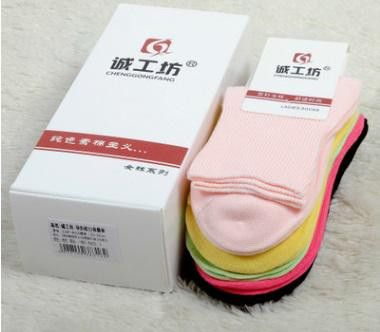 6 Pairs HEALTHY GIFT Professional Diabetic Socks Women For Pregnant 100 Cotton Antibacterial Comfy Pedicure Socks ZP-BAC055