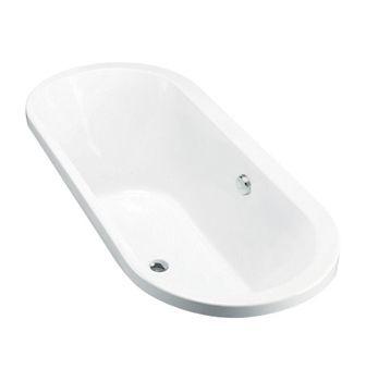 Evok Oval Drop-In Bath  Features:    Drop-in acrylic bath (fully reinforced)