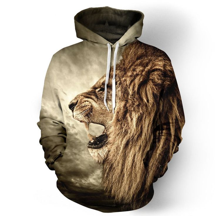 3D lion print Sweatershirt