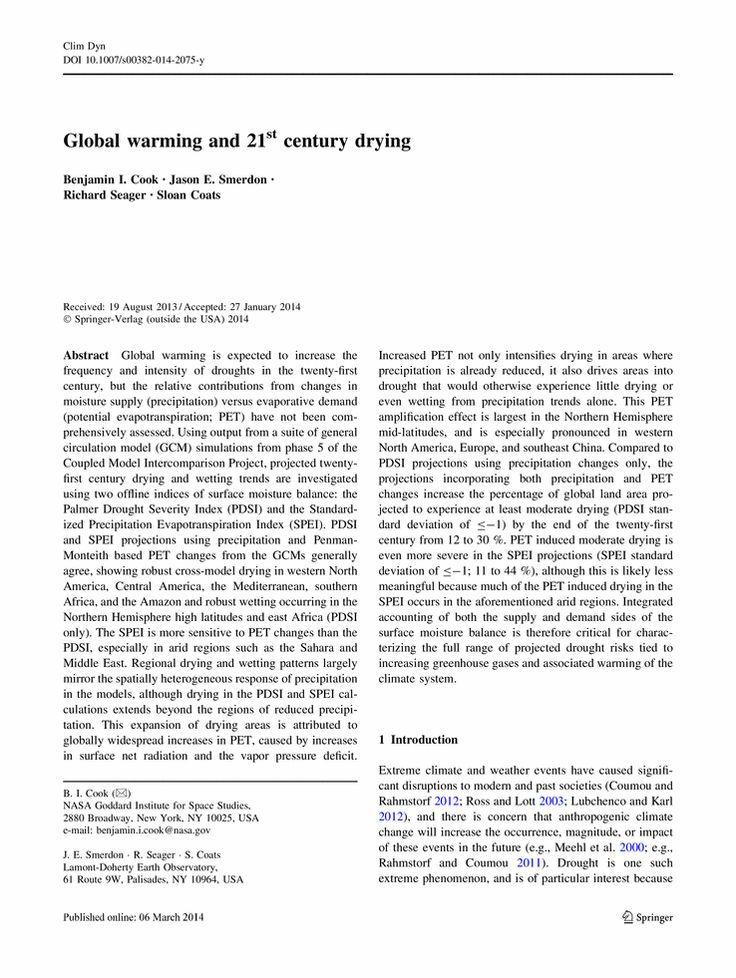 Global warming term paper