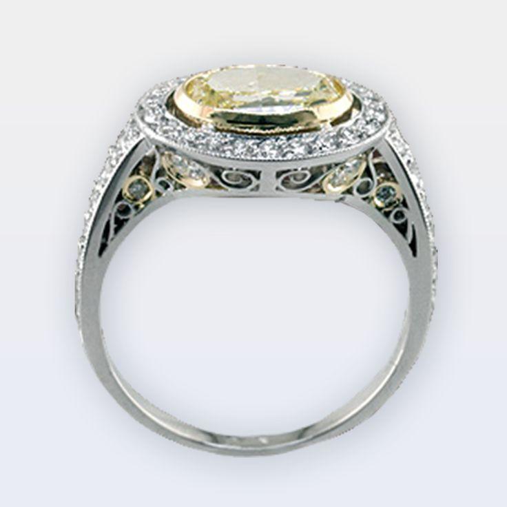 Oval Yellow Diamond Ring – Peter Norman Jewelers